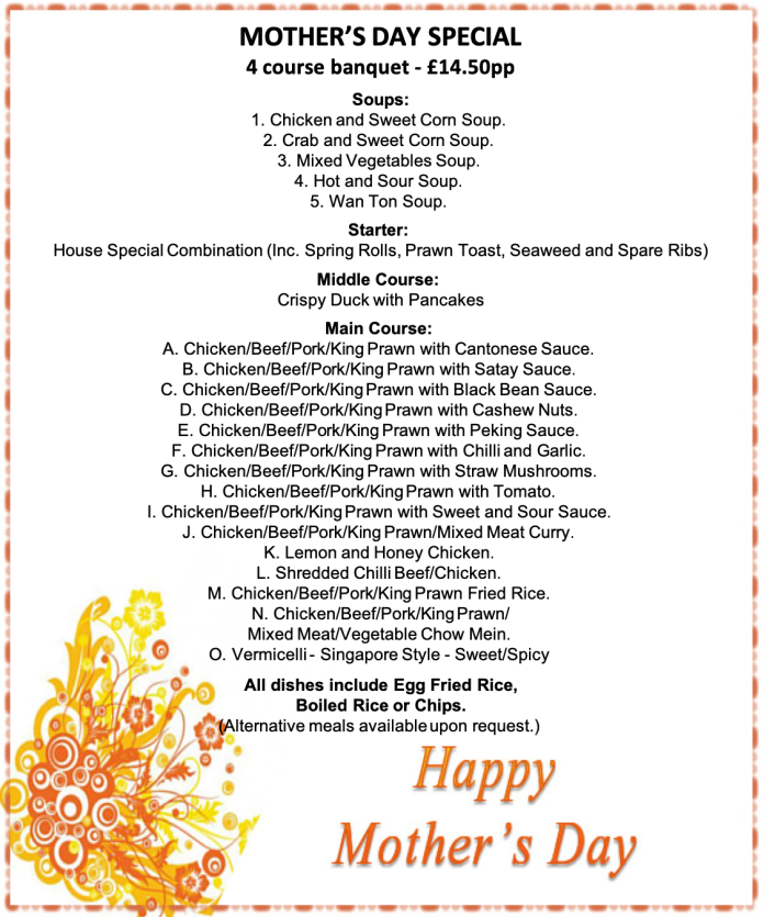 Mother day menu 2 20